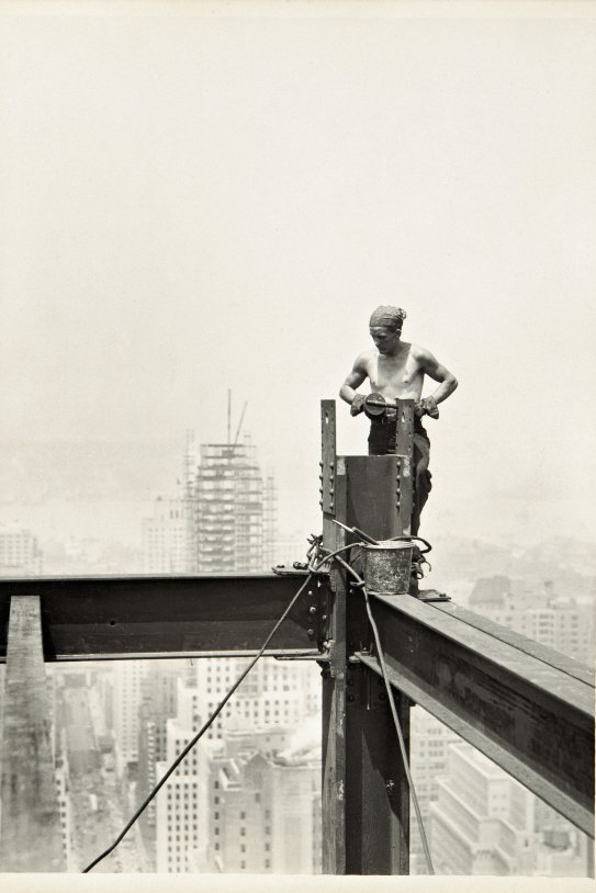 Lewis Hine Donde|Dónde The Hoist Empire State Building 1931