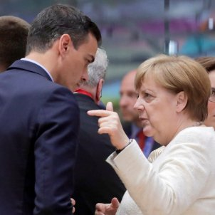 Pedro Sánchez Angela Merkel Comissió Europea EFE