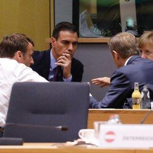 Pedro Sànchez, Macron, Merkel, Tusk Comissió Europea EFE