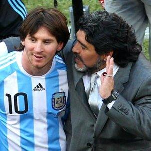 Messi Maradona Argentina AFA