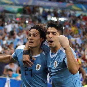 Luis Suarez Cavani Uruguai Xile EFE
