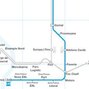 esquema linea l10 metro barcelona