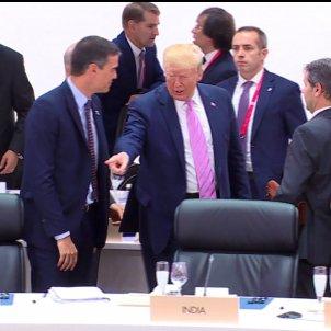 gest trump sanchez osaka g20 - tve