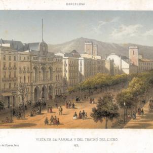 Esclata l'avalot revolucionari del Català Mazarí. Vista de Barcelona (principis del segle XIX). Font Cartoteca de Catalunya