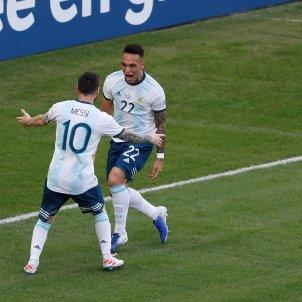 Messi Lautaro Otamendi Argentina Venecuela Copa America EFE