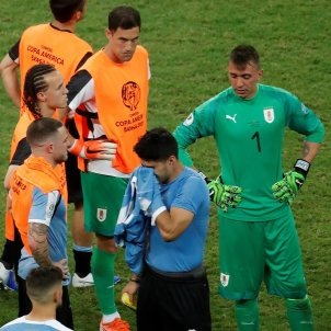 Suarez penals Uruguai Peru Copa America EFE