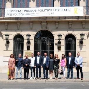 Lleida ajuntament pancarta presos ACN