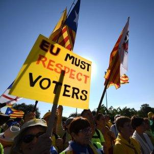 Manifestacio independentista Estrasburg - EFE