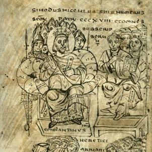 Constantine burning Arian books