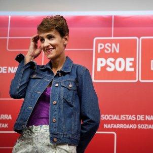 La secretaria general del PSN y candidata a presidir Navarra, María Chivite EFE