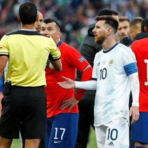 Messi Medel Argentina Xile Copa Amèrica EFE
