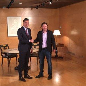 Pedro Sánchez i Pablo Iglesias Congrés - ACN