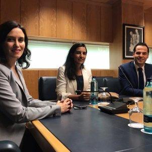 Reunió  PP Cs y Vox Comunitat Madrid - EuropaPress