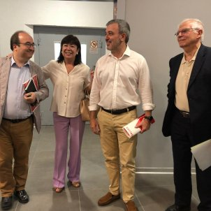 Iceta, Borrell i Collboni   Marina Fernández
