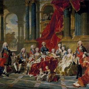 La familia de Felip V (1743), obra de Van Loo, que s'exposa al Museo del Prado. Font Viquipedia