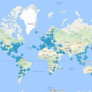mapa Wi-Fi aeroports / WiFox