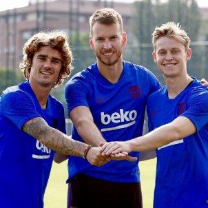 Griezmann Neto De Jong Barça entrenament FC Barcelona