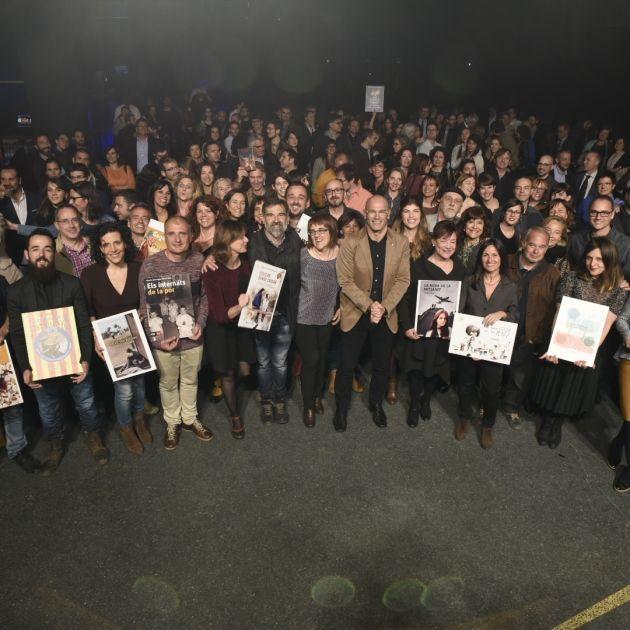Foto de grup dels assistents a la festa de la Llança