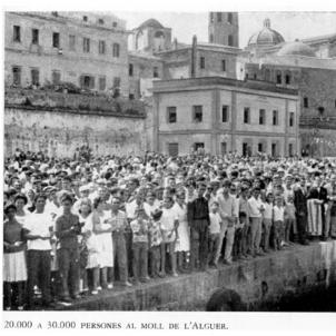S'inaugura La Costura, la primera escola catalana moderna de l'Alguer. Fotografia del port de l'Alguer (circa 1980). Font Amics de l'Alguer. Foto Amadeu Bagués