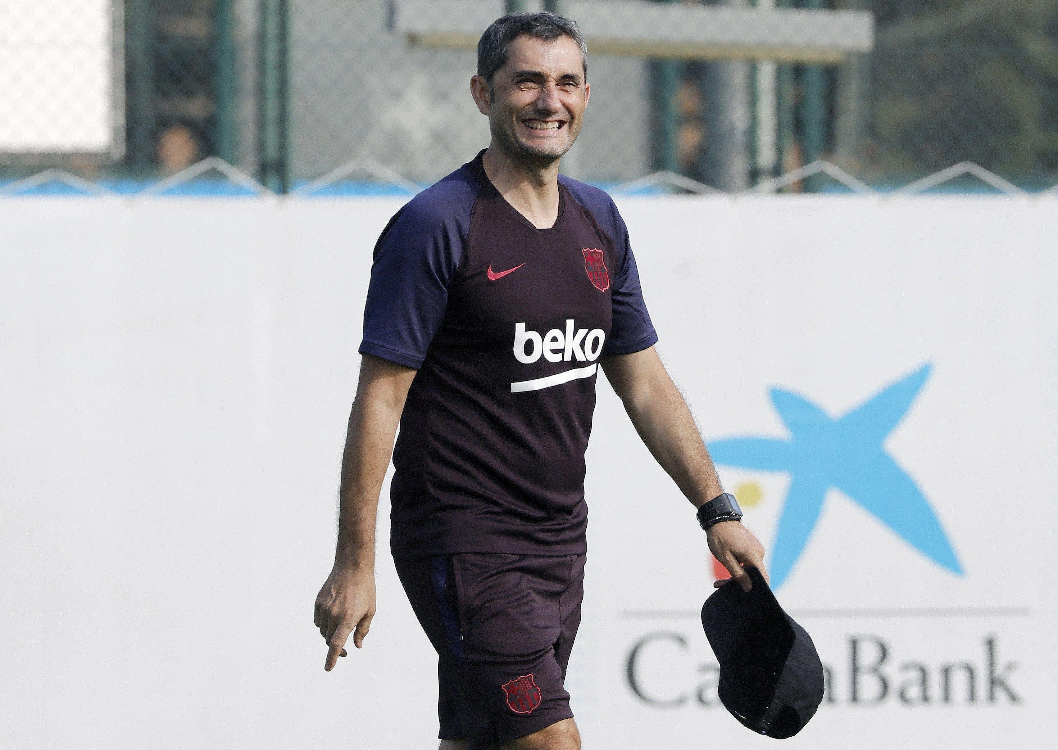 Ernesto Valverde Barça pretemporada entrenament EFE