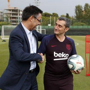 Bartomeu Valverde Barça entrenament FC Barcelona