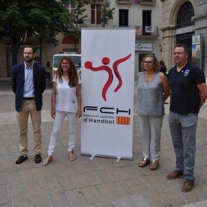 Presentació Supercopa Catalunya handbol Igualada Foto Federació Catalana d'Handbol