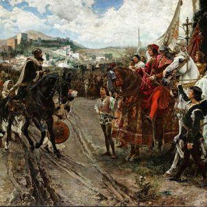 Granada. Representació moderna de la rendició de la ciutat.