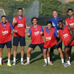 Jordi Alba Busquets Griezmann Riqui Puig Semedo Ter Stegen entrenament Barca @FCBarcelona