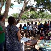 Visita de terreny d'un equip de l'ACCD a Funhalouro, Moçambic. El projecte és una iniciativa d'Enginyeria Sense Fronteres i la Unió Nacional de Camperols de Moçambic.