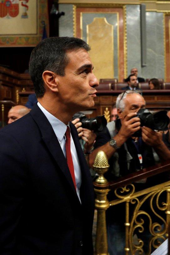 Pedro Sánchez debat Congrés investidura EFE