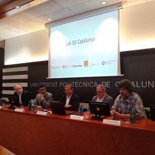 EuropaPress 2285277 T Alonso (Orange) J Puigneró (Govern) F Torres (UPC) E Martí (MWCapital) y J Paradells (i2CAT)