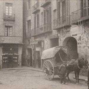 Plaça de l'Oli 1908 AFB Joan F Rovira atribuit