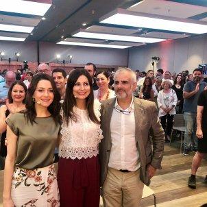 Inés Arrimadas Lorena Roldán Carlos Carrizosa - europa press