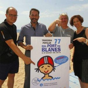 Blanes David Lara, Pere Lopera, Àngel Canosa i Gisela Bayé Foto Ajuntament de Blanes