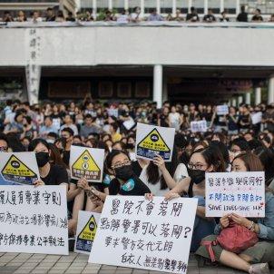 manifestacio funcionaris sanitaris hong kong - efe