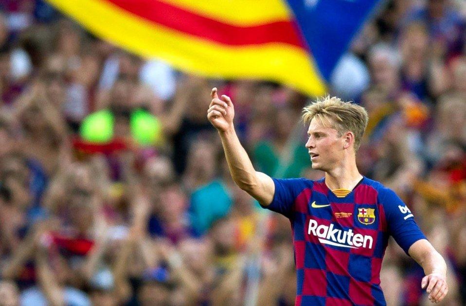 Frenkie de Jong estelada Barça EFE