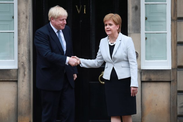 Boris Johnson Nicola Sturgeon EFE