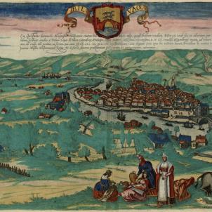Gravat de Bilbao (1575) obra de Braun i Hohenberg. Font Cartoteca de Catalunya