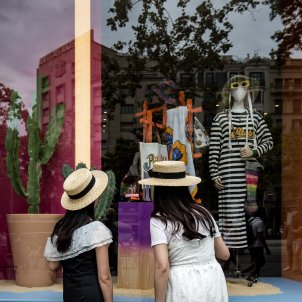 aparador maniquís comerç barcelona botiga passeig de gracia recurs - Carles Palacio