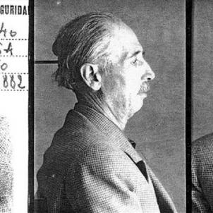 Els nazis detenen el president Companys. Fitxa policial del president Companys. Font Fundació Irla