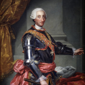 Retrat de Carles III (1765) obra de Anton Raphael Mengs, que s'exposa al Museu del Prado. Font Wikimedia Commons