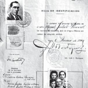 Es constitueix el primer i únic govern republicà d'unitat a l'exili. Salconduit del govern de Mèxic a la família Santaló. Font Ajuntament de Girona