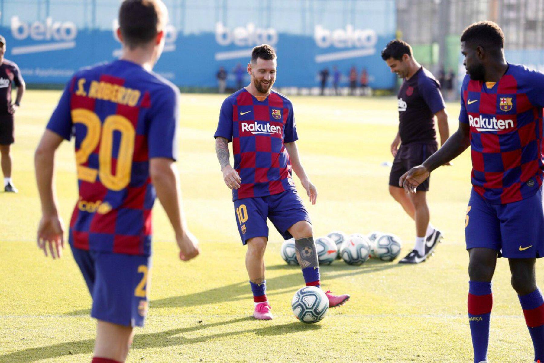 Messi torna entrenament Barca @FCBarcelona