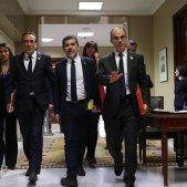 EuropaPress 2147611 (I D) El exconsjero de Territorio y Sostenibilidad de la Generalitat Josep Rull; el expresidente de ANC Jordi Sànchez; y el exconsejero de Presidencia Jordi Turull todos presos del pro