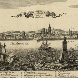La Gran Pesta Mediterrània arriba a Barcelona. Gravat de Barcelona (1659). Font Cartoteca de Catalunya
