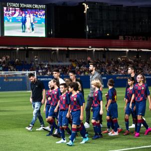 Messi Pique Sergi Roberto Estadi Johan Cruyff SiraEsclasans