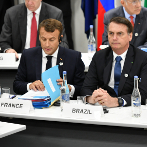 Macron Bolsonaro G20 Osaka - Europa Press
