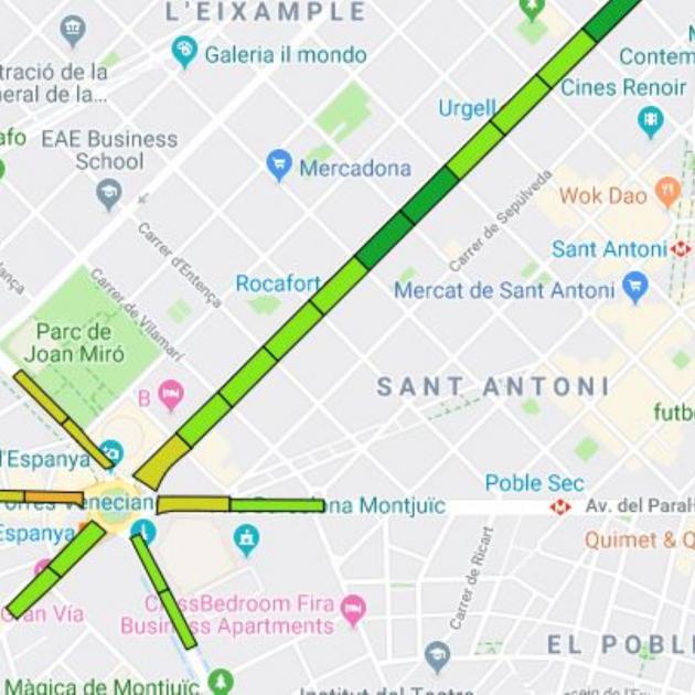Mapa Trams Diada 2018.Aixi Esta L Ocupacio Dels Trams De La Diada Tendencia A L Alca