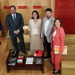 Ábalos, Rufián, Lastra reunió   EFE