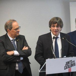 Torra i Puigdemont Twitter Junts per Catalunya